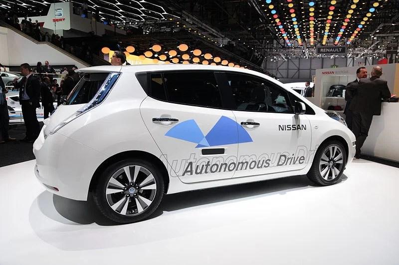 Nissan autonomous car prototype. Photo by Norbert Aepli on Wikimedia Commons / CC BY-SA 3.0.
