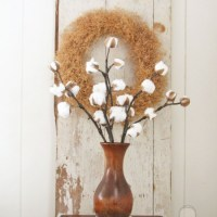 Farmhouse Cotton Branches {Best of DIY Link Party}