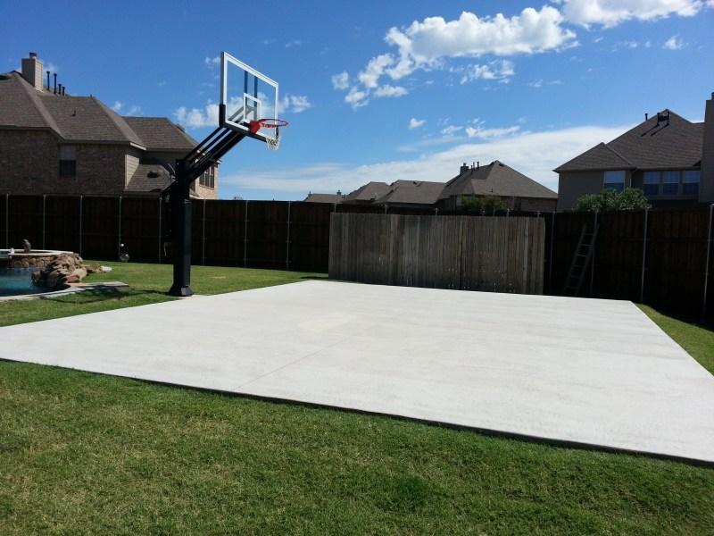 Large Of Backyard Basketball Court