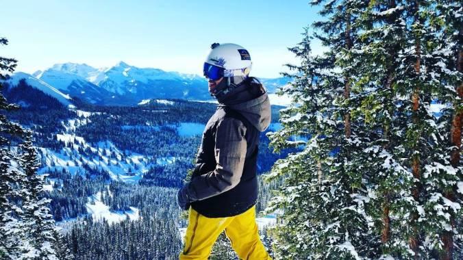 Snowboarder, Mt. Baldy, Telluride, Colorado