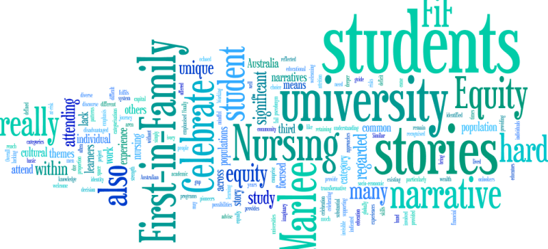 """I worked really hard to get here.  I wouldn't want to go back.""  Exploring the narrative of one first-in-family nursing student during their university transition."