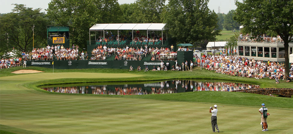 """The 16th hole at Firestone, nicknamed """"The Monster,"""" is considered one of toughest par 5s on the PGA Tour. Credit Getty"""