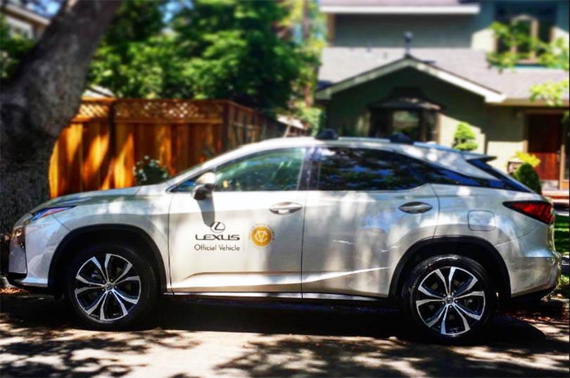 Lexus is the official vehicle of the U.S. Women's Open. Credit: Liv Cheng Instagram