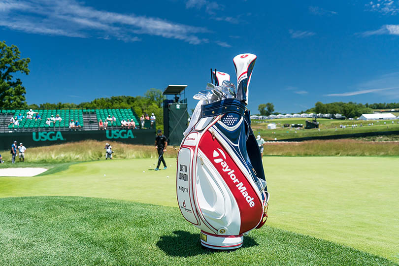 Dustin Johnson's golf bag as pictured at Oakmont during the 2016 U.S. Open. Credit: TaylorMade Golf