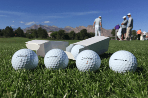 Titleist Pro V1 and Pro V1x at the Shriners Open. (Credit: Titleist Twitter)