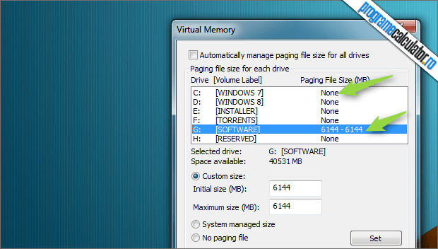 Virtual Memory Windows 7