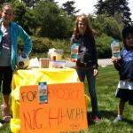 A pop-up lemonade stand in the San Francisco Presidio raises $48 in an hour.