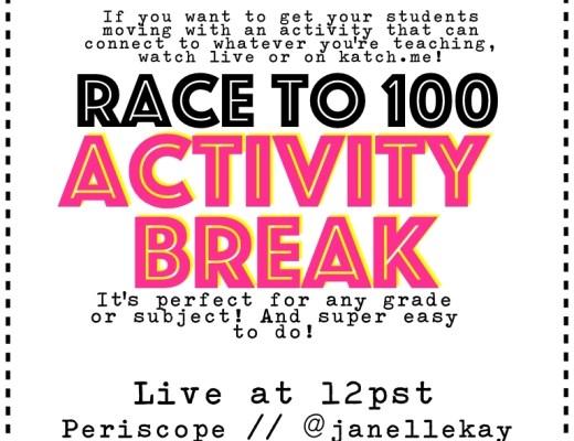 Race to 100 Activity Break.001
