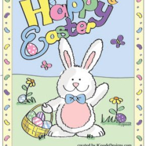 Easter Bunny coloring and activity page