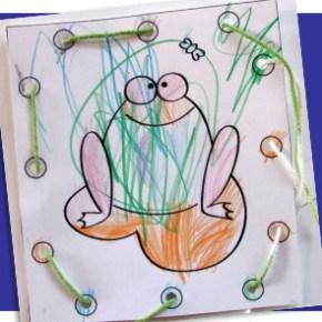 DIY frog threading card