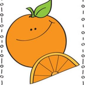 Happy orange coloring page