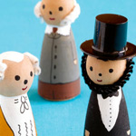 US President peg dolls