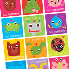 Animal Valentine printables