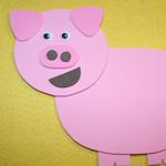 paper pig craft