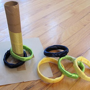 Make your own ring toss game