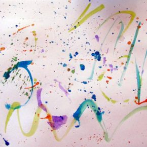 Splatter painting, fun preschool art