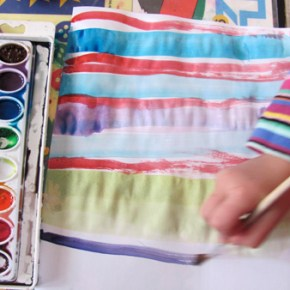Painting patterns with water colors