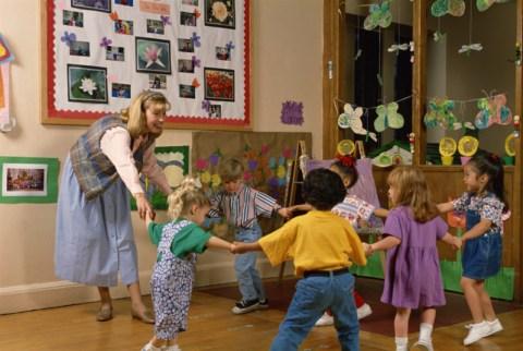 Inside preschool activities