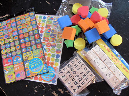 Target Dollar bin craft supplies