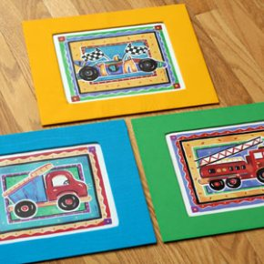 DIY matting kids art