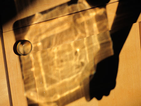playing with shadows and glass - square plate