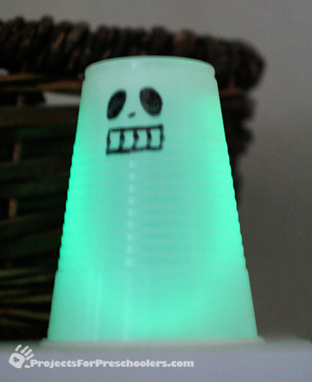 Green glowing ghost