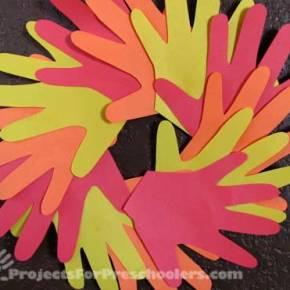 Handprint Autumn wreath