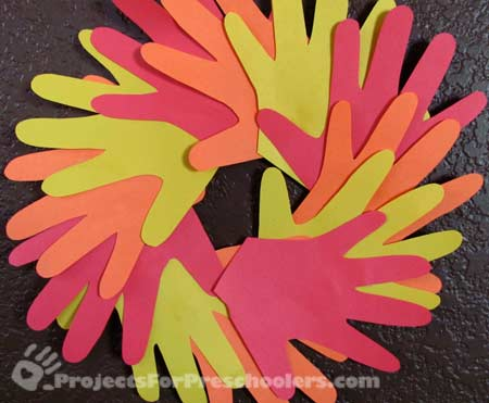 Hand print Autumn wreath