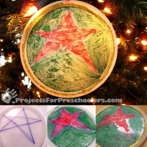 Plastic lid ornaments