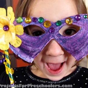 Mardi Gras Mask Paper Plate Craft