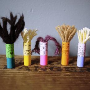 Marker Lid Finger Puppets