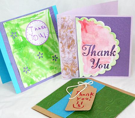 Thank  you cards using David Tutera's card supplies