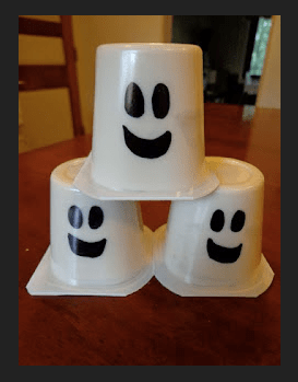 Pudding cup ghosts
