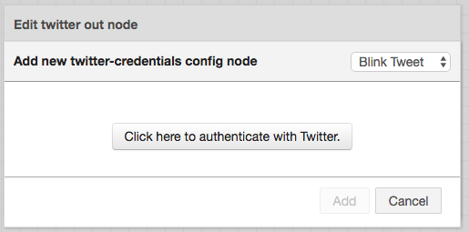 2 node-red twitter authenticate with twitter