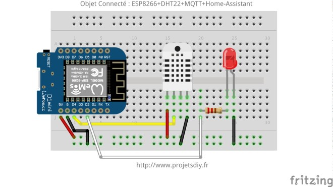 IOT object connecté domotique home-assistant ESP8266+DHT22+MQTT_bb