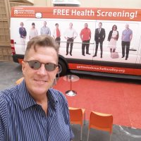 """Nicholas Snow and the """"Get Tested Coachella Valley"""" Mobile Testing Van"""