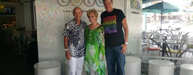 Lulu's Jerry and Barbara Keller strike a pose with PromoHomo.TV's Nicholas Snow.