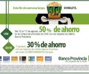 Promo 50% Banco provincia en el fin de semana largo