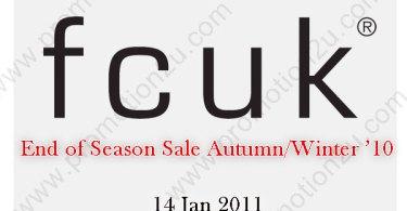 FCUK End of Season Sale Autumn/Winter '10 ลดกระหน่ำ 50%