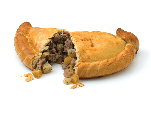 lamb and mint cornish pasty