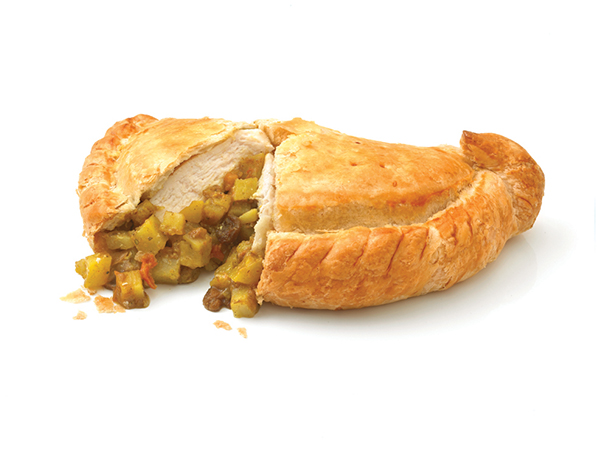spicy chicken cornish pasty