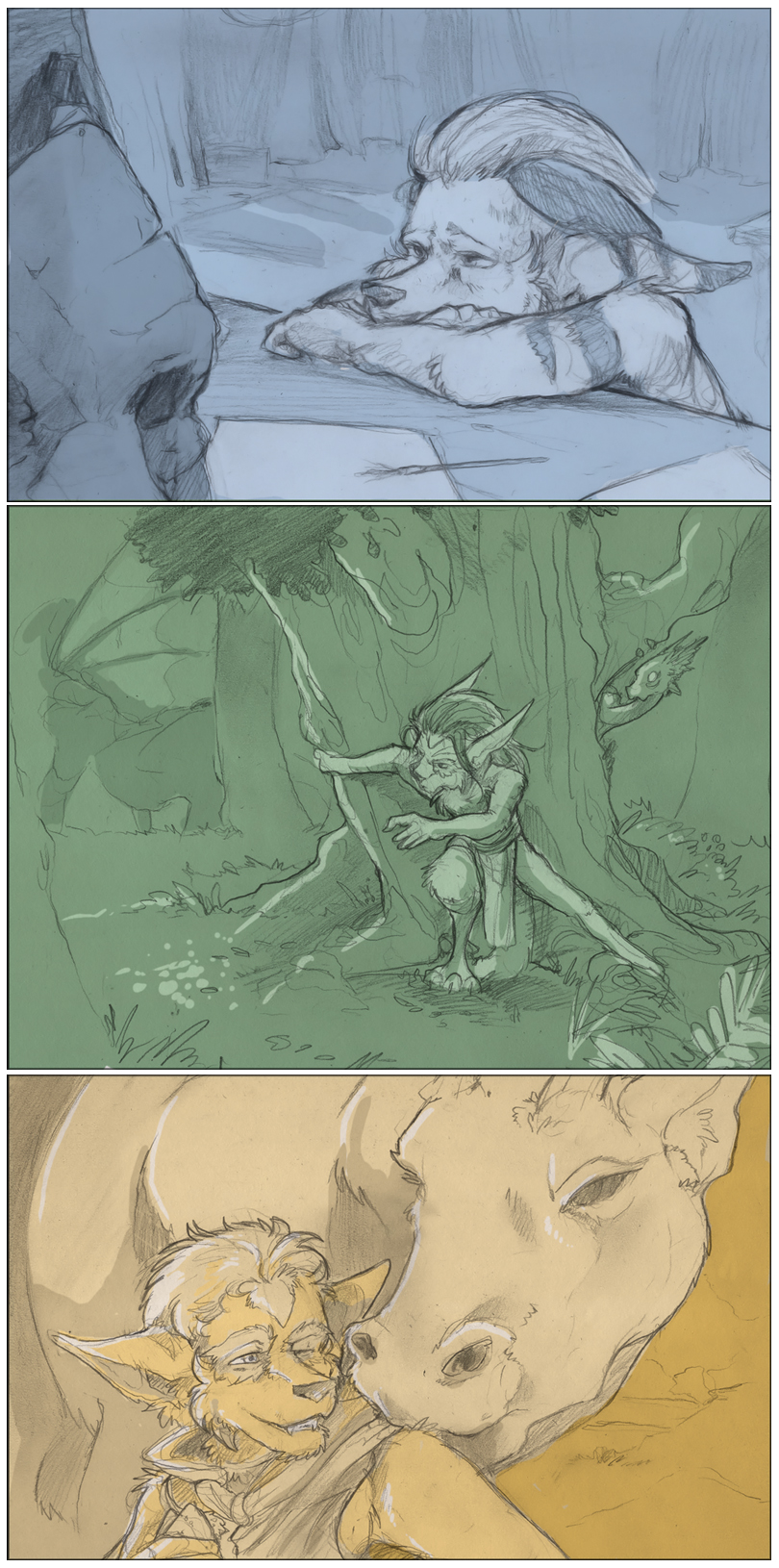 Filler Art: Oros Triptych