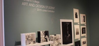 Student work on display in the Giertz Gallery