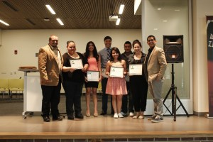 Photo by Zonghui Li | The Prospectus Members of the Comadre y Compadre Program are presented awards during the Student Life Banquet in the Student Union on Thursday, April 30, 2015.