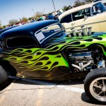 Photo by Scott Wells | The Prospectus  Custom flames adorn the side of this 1933 Ford Coupe.  The vehicle is owned by Kirk Kresin of Mahomet, IL.