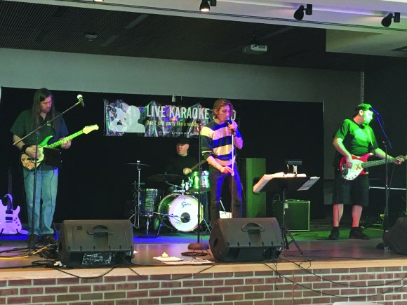 Photo by Zonghui Li | The Prospectus Live band Chicago Blackhawks played at Parkland College on Wednesday, Jan 13, 2015 during a karaoke event in the Student Union Cafe.