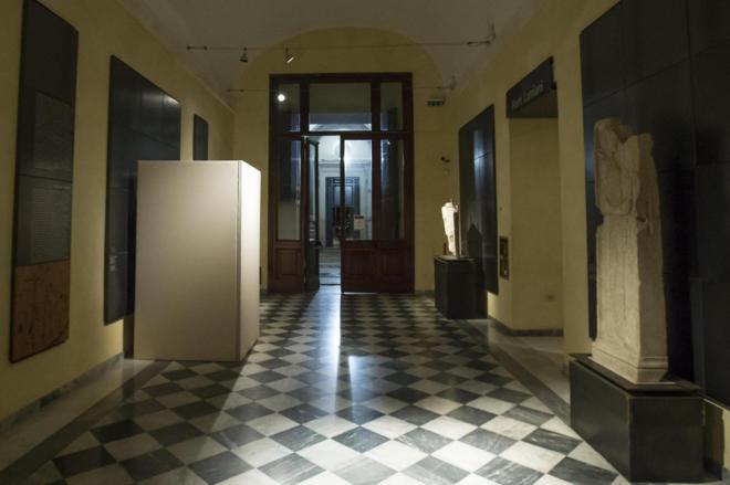 Esculturas de desnudos tapadas en los Museos Capitolinos de Roma (Foto EFE para elmundo.es)