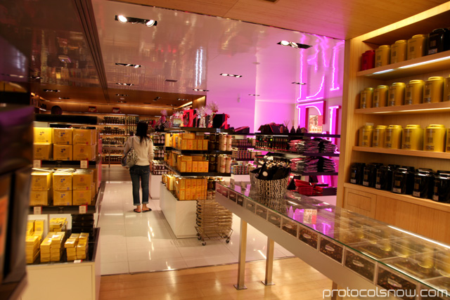 Fauchon store in Paris teas chocolate biscuits