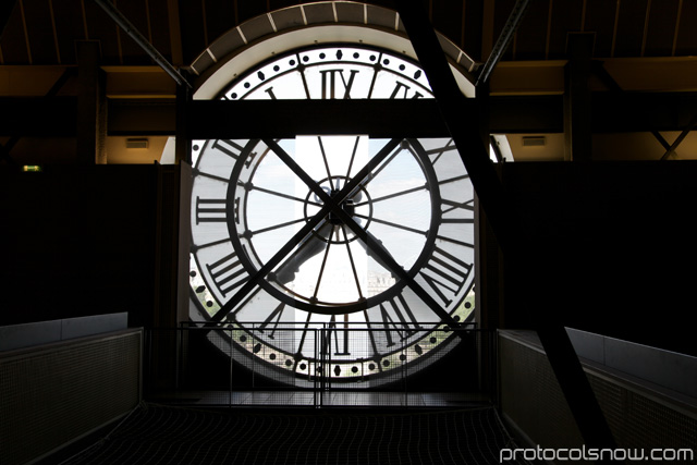 Clock wall at Orsay Museum