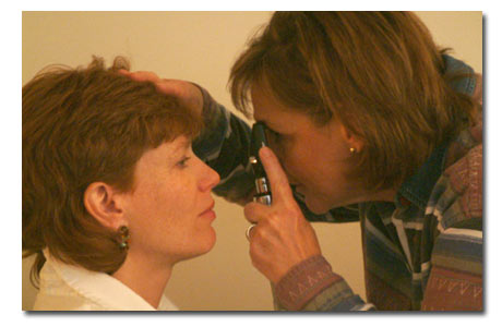 Ophthalmology rotation ophthalmoscope
